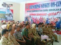 Gedung baru UPTD Pendidikan Kecamatan Tugu diresmikan oleh Walikota Semarang Hendrar Prihadi melalui teleconfernece. FOTO : AMBAR ADI WINARSO / JATENG POS