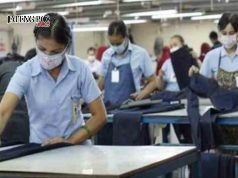 OPENING TEKSTIL : Sejumlah pekerja pabrik teskstil sedang melakukan proses produksi produk tekstil. Foto: Jpnn.com