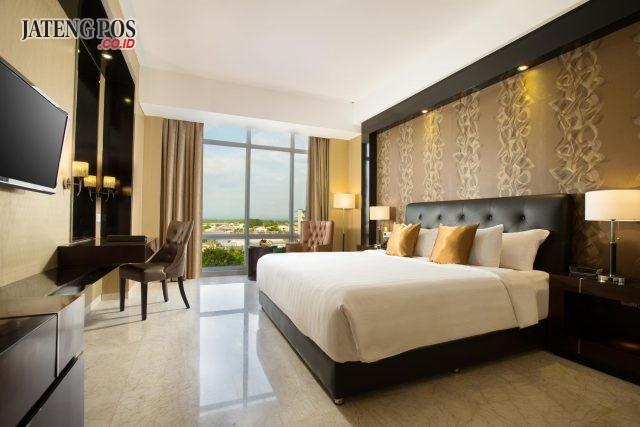 NYAMAN MODERN : Superior room berdisain modern dan fasilitas lengkap yang dipunyai Best Western Premier Hotel Solo Baru. Foto : DOK/JATENG POS