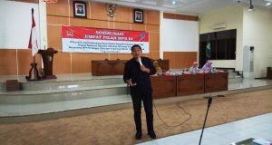 Harus netral : Bowo menegaskan agar TNI dan Polri harus netral dalam pemilu. Adhi pramanto/jateng pos