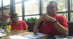BIDIK MILLENIAL: PTH Head of Central & West Java Region, Gunung Hari Widodo, saat menjelaskan agenda transformasi perusahaan yang akan dikerjakannya, khususnya dalam menggarap pasar millenial. FOTO : ANING KARINDRA/JATENG POS
