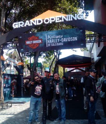 DILAUNCHING : Saat launching Kalimas Harley Davidson Solo Baru Sabtu (17/11) langsung melayani sales, service, spareparts dan merchandise.