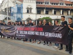 ANTI NARKOBA : Vinus Karaoke Semarang serukan bahaya Narkoba kepada masyarakat luas. Foto : DWI SAMBODO/JATENG POS.