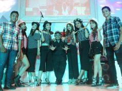 MENGHIBUR : Exist Model usai tampil fashion show semarak 25 tahun CL Semarang. Foto : DWI SAMBODO/JATENG POS.