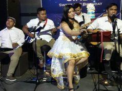 PERFORM : Band all genre dari B3b3_Management saat tampil dalam sebuah event musik di Semarang. Foto : DWI SAMBODO/JATENG POS.