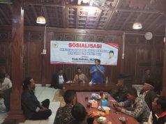 Anggota DPRRI Rinto Subekti menyampaikan pesan empat pilar kebangsaan pada warga Sragen.