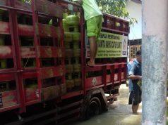 BANJIR- Meski banjir terjadi di Kebumen, pasokan BBM dan LPG tetap aman. FOTO : IST/ANING KARINDRA/JATENG POS
