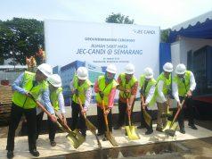 GROUND BREAKING- JEC Candi melebarkan sayapnya di Kota Semarang, ditandai dengan Groundbreaking pembangunan RS Mata JEC Candi Semarang, di Jalan Pamularsih, pada Sabtu (19/1). FOTO : ANING KARINDRA/JATENG POS