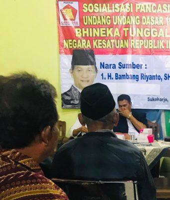 Kegiatan sosdapil anggota MPRRI Bambang Riyanto di desa Ponowaren kecematan Tawangsari Sukoharjo.