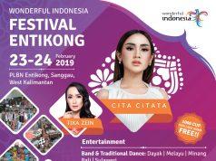 Cita Citata Ajak Fans Meriahkan Festival Crossborder di Entikong
