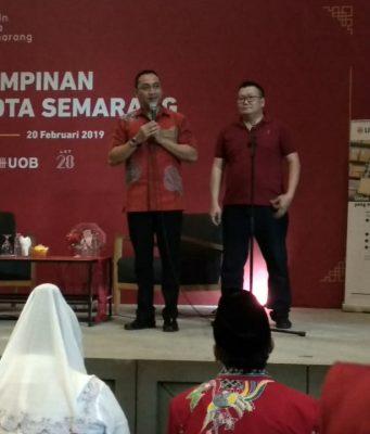 KADIN : Ketua Kadin Kota Semarang Arnaz Andrarasmara disela rapat pimpinan Kadin Kota Semarang kemarin.