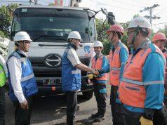 APEL PERSONIL: PLN UID Jateng dan DIY menyiagakan sebanyak 3.341 personil pada acara apel siaga yang bertempat di Gudang Konstruksi PLN Krapyak Semarang, Senin (18/3)