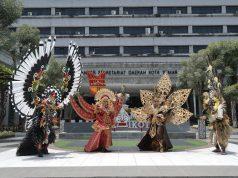 BUSANA KREASI : Empat prototype tema Nusantara desain kostum SNC 2019 dipamerkan untuk umum.