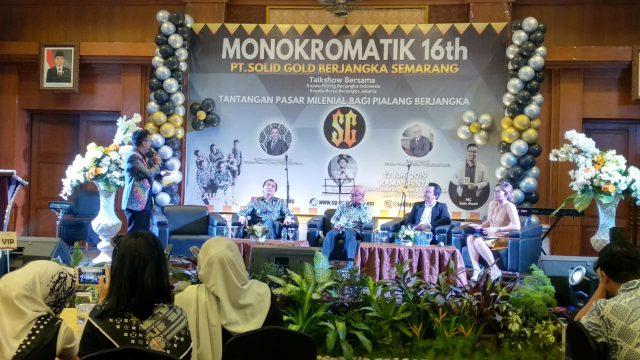 "TALKSHOW: Talkshow bertema ""Tantangan Pasar Milenial Bagi Pialang Berjangka"" digelar berbarengan dengan HUT ke-16 PT Solid Gold Berjangka di Hotel Patra Semarang"