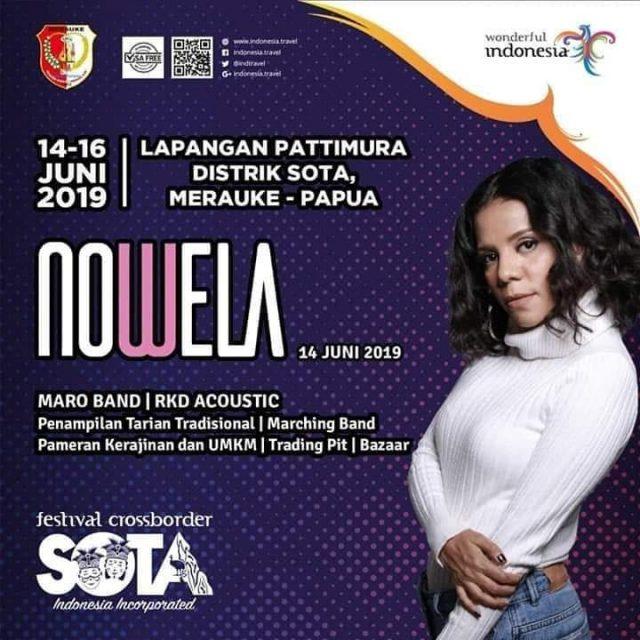 Nowela akan Bawakan Lagu Khas Papua di Festival Crossborder Sota 2019