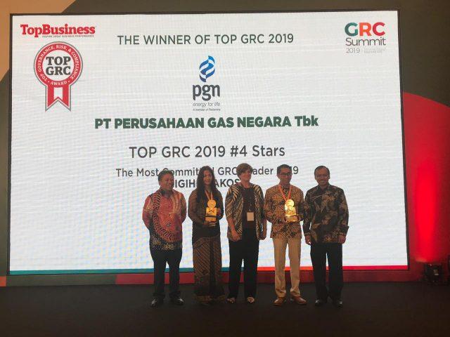 PGN Raih 2 Penghargaan pada TOP GRC 2019