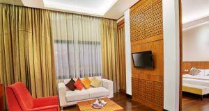 NYAMAN : Salah satu room spesial executive suite Patra Semarang Hotel Convention siap sambut kenyaman pelangggan dalam libur tujuh belasan.