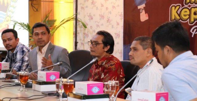 NARASUMBER:Wakil Ketua DPRD Jateng Ferry Wawan Cahyono menjadi narasumber dalam diskusi mengenai Pilkada 2020 di Lantai IV Gedung Berlian DPRD Jateng, Rabu (15/1/2020).