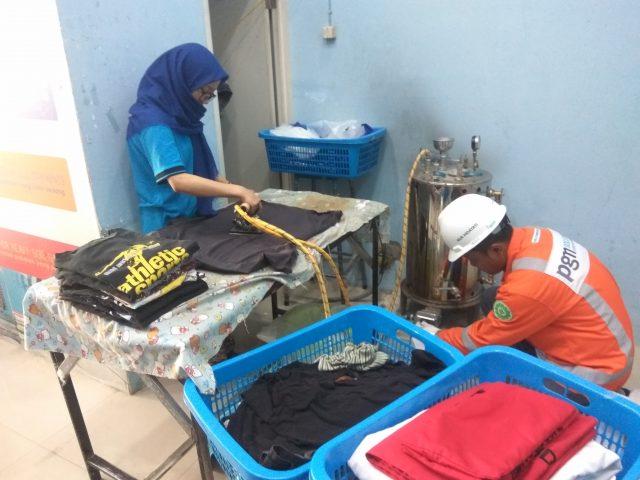 im Maintenance PGN memastikan keamanan pengaliran gas pada alat setrika OK Coin Laundry
