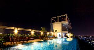 SAMBUT TAHUN BARU: Skypool lantai 30 Star Hotel Semarang bakal menggelar Bollywood Party menyambut tahun baru 2020.