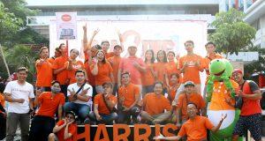 MERIAH: Rangkain event HUT ke -2 HARRIS Hotel Sentraland helat kegiatan massal di area CFD Jalan Pahlawan Semarang. Foto : DWI SAMBODO/JATENG POS.
